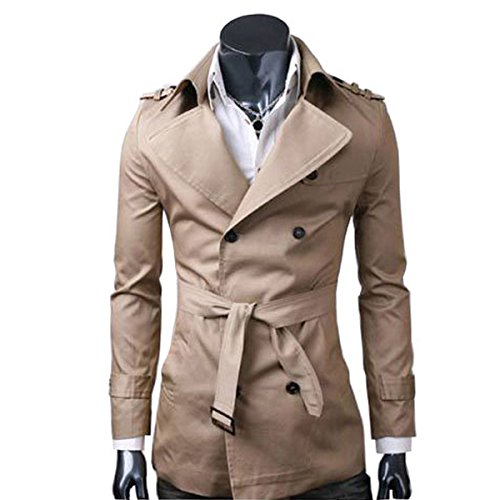 Sichyuan Kurzmantel Winter Jacke Herren Parka Mantel,Atmungsaktiv And Langlebig Herren Wollmantel Pea Coat Doppelreiher stilvolle Herrenmode. (Single Breasted Double-taste)