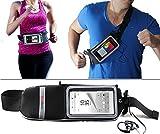 Navitech Smartphone Wasser Wiederständiges Neoprane Sport / Jogging / Lauf Fitnesgürtel / Bauchtasche in Schwarz für das Sony Xperia M5 / Sony Xperia E5 / Sony Xperia C4 / Sony Xperia M4 Aqua