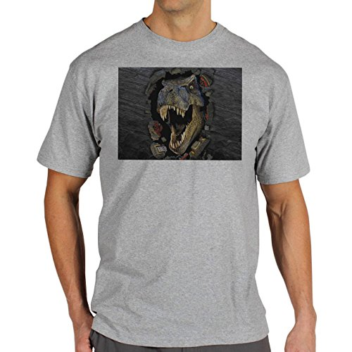 Jurassic-Park-Dinosaur--Background.jpg Herren T-Shirt Grau