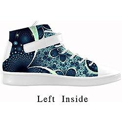 Zapatillas de Mujer con Puntera Redonda, Transpirables diseño de Fractal, Mujer, Negro, EUR37/US6.5