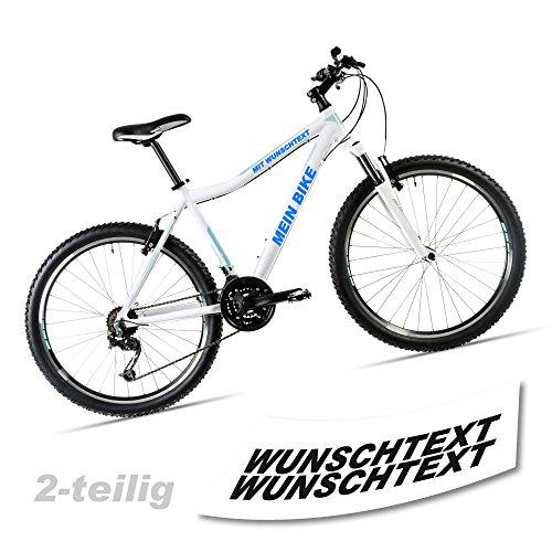 style4Bike Wunschtext Beschriftung Fahrradaufkleber für Rahmen 2-teilig Fahrrad Aufkleber TOP |SE001