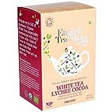 English Tea Shop Weißer Tee Lychee Kakao Bio/Weißer Tee mit Litschi und Premium Cacao Tee Sammlung Hand gepflückt von Sri Lanka - 2 x 20 Sachets (80 Gramm)