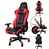 Homgrace Office Desk Chairs Gaming Chair Swivel Recliner Comfort Upholstered Racing Sport Style
