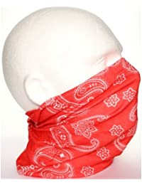 RED PAISLEY neck scarf / durag / snood / cap