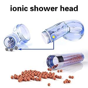 Jopee Stone Ionic – Alcachofa de ducha con 7 ledes que cambian de color, filtro de ducha de alta presión, 30% ahorro de…