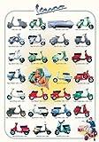 empireposter - Educational - Bildung - Vespa Evolution Motor Roller  - Größe (cm), ca. 68x98 - Poster, NEU - Version in Englisch - Beschreibung: - Bildung, Lernposter - englische Version -