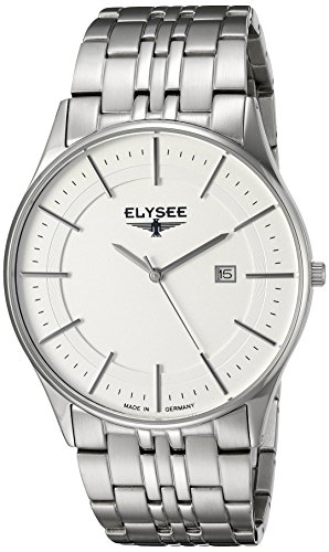 ELYSEE Made in Germany Diomedes II 83015 42mm Silver Steel Bracelet & Case Synthetic Sapphire Men's Watch