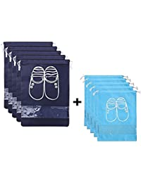 Sacs de rangement pour chaussures de voyage, Qutaway Window Sacs de rangement économise l'espace transparent, Talon haut, Drawstring, Anti poussière, respirant
