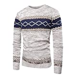 Pull Bleu Marine Homme Soldes,Overdose Veste Pullover Ras de Cou Sweat Maille Casual Outwear Tops