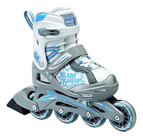 """Bladerunner-""""Phaser regolabile Bambini skate (grande, Argento/Blu)"""