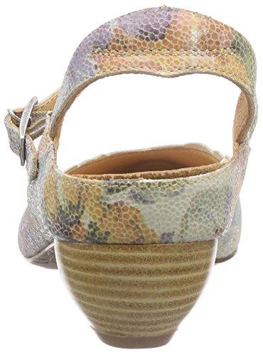 Think - Aida Pumps, Scarpe col tacco con cinturino a T Donna Multicolore (Mehrfarbig (PASTELLO/KOMBI 40))