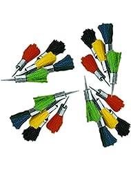 Set 20 flechas reutilizables de pelo de colores para usar en carabinas de aire comprimido del calibre 5,5mm.