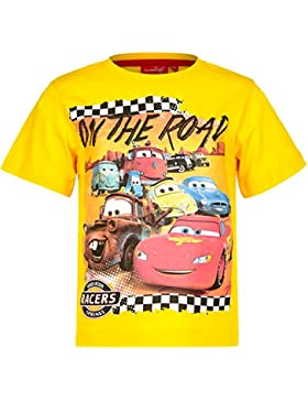 Disney Cars T-Shirt für Kinder, original Lizenzware, gelb, Gr. 98 - 128