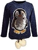 Pinguin Mädchen Kinder Sweatshirt Pullover Wende Pailletten Bluse Langshirt Pulli (104, Rosa)