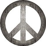 2D-Wandobjekt aus Holz   CND-Symbol   Friedenszeichen   Friedenssymbol   Peace   Holzbild   Shabby-Look   Landhaus   Vintage   Holzobjekt   Deko   Holzdruck   Geschenk, Größe:ca. 30x30cm