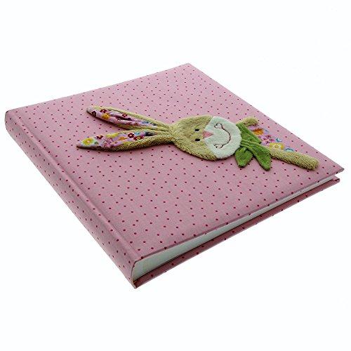 Goldbuch Babyalbum, Bungee Bunny, 30 x 31 cm, 60 weiße Blankoseiten mit 4 illustrierten Seiten und Pergamin-Trennblättern, Leinen mit...