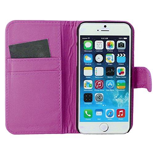 """ebestStar - pour Apple iPhone 6S 6 Plus écran 5,5"""" - Housse Coque Etui Portefeuille Support PU Cuir + Stylet tactile, Couleur Bleu [Dimensions PRECISES de votre appareil : 158.1 x 77.8 x 7.1 mm, écran Violet"""