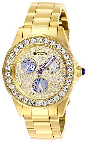 Invicta 28462 Angel Orologio da Donna acciaio inossidabile Quarzo quadrante oro
