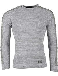 BLZ jeans - Pull gris clair avec nervures