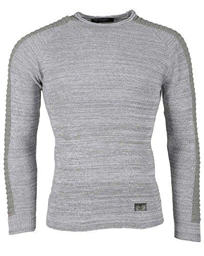 BLZ jeans - Licht grauen Pullover mit Rippen Grau