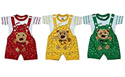 Fingers Dungaree Set with Tshirts For kids (0-6 Months)
