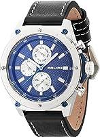 Police reloj para hombre colour azul/plata/borde azul PL14537JS, 03A de Police
