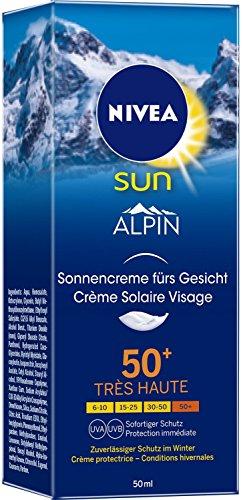 Nivea Sun Alpin - Crema solar facial FPS 50+, Lote de 2 - 50ml