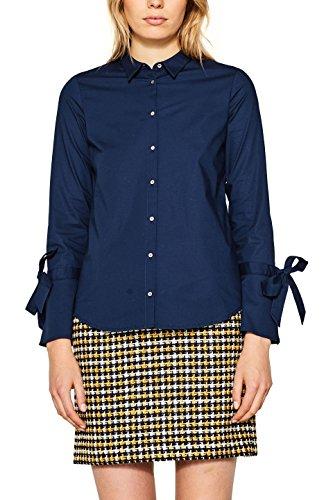 ESPRIT Damen Bluse 107EE1F030, Blau (Navy 400), 40