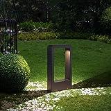 ZXF LED 7W 3000K Luce Percorso della Luce LED Paletto Luminoso Montaggio 30 Cm Patio Esterno Luce del Giardino Paesaggio Villa Impermeabile Accogliente