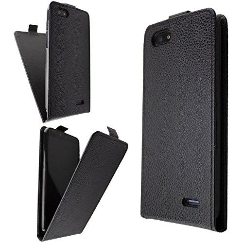 caseroxx Hülle/Tasche Flip Cover passend für Archos Core 57s, Schutzhülle (Handytasche klappbar in schwarz)
