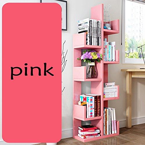 QIANGDA Bücherregal Baumform Bücherschrank Blumenregal 8 Schichten Lagerregal Gebrauchsgut, 48 X 20 X 132 Cm, 8 Farben Wahlweise (Farbe :...