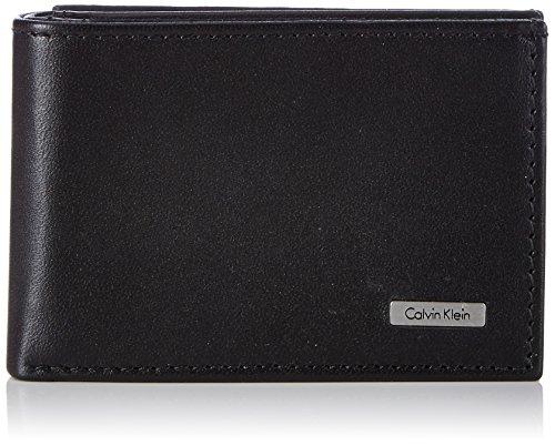 Calvin Klein Rail Mini 6Cc Coin, Portafoglio Uomo, Nero (Black), 7x2.6x10.5 cm (W x H x L)