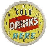 Wanduhr Kronkorken Cold Drinks 33cm