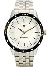 Swiss Grand SG-1167 Silver Coloured With Silver Stainless Steel Strap Analog Quartz Watch For Men