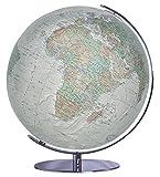 COLUMBUS DUO ALBA: 34 cm Durchmesser, OID-Code, handkaschiert, Meridian und Fuß Hochglanz chrom