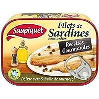 Saupiquet Filets de sardines poivre vert - Recettes Gourmandes La boite de 70g - Prix Unitaire - Livraison Gratuit...
