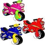 Unbekannt XL Kinderlaufrad -  Motorrad - Mädchen Farbe  - Lauflernrad - für Innen & Außen - extra breite Reifen - selbstständig stehend - Rutschfahrzeug / Rutschauto ..