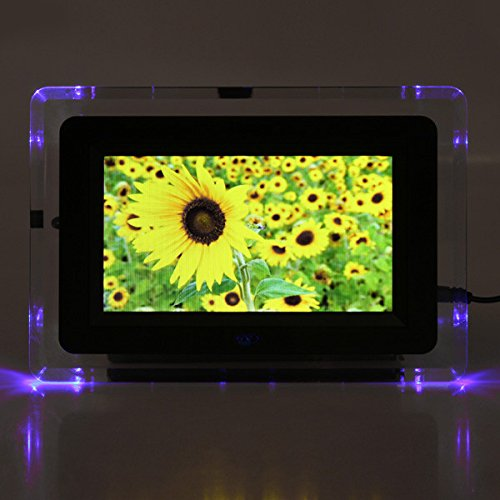 MYAMIA 7 inch Tft-Lcd Digital Photo Frame Filme Mp3 Mp4 Player Light Flash