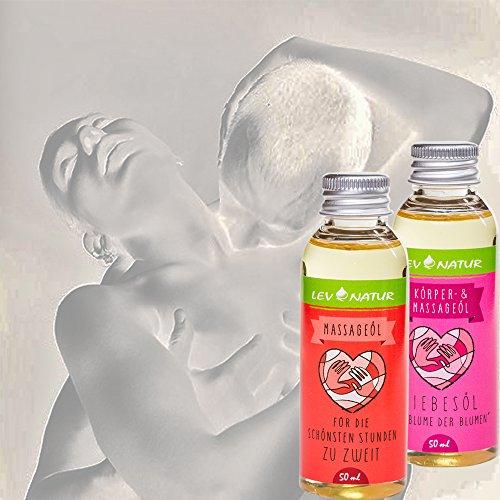 Massageöl Liebesöl Geschenkset Erotiköl, Naturprodukt direkt vom Hersteller, Hochwertige naturreine Öle 2 St.x 50ml