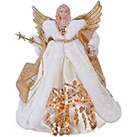 The Christmas Workshop 82050 12 Zoll 30 cm Traditionelle Top Angel Weihnachtsbaum, Creme/Gold