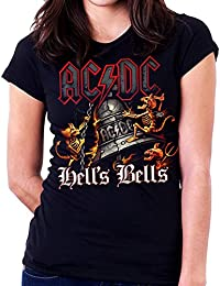 35mm - Camiseta Mujer - Acdc - Ac/Dc - Hells Bells - Women'S T-Shirt