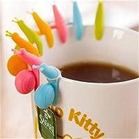 5 Piezas Clip de La Copa Silicona Mini Pinza de Vaso Fijar Bolsitas de Té