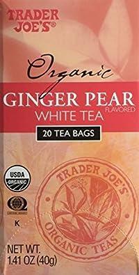 Trader Joe's Organic Ginger Pear White Tea 1.41 oz. (Pack of 3)
