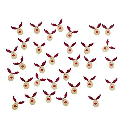 Neviti Reindeer Shaped Confetti, Multi-Colour, 10-Piece