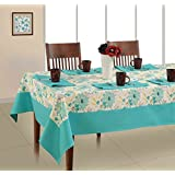 Soumya Set Of 7 Printed Cotton 6 Seater Table Cover Set