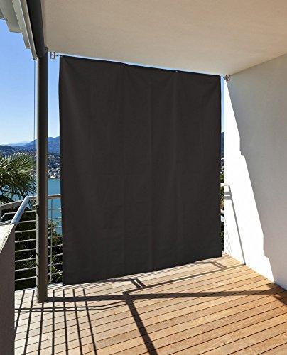 Vertikaler Sonnenschutz Windschutz Sichtschutz Balkon Terrasse anthrazit L: 230 x B: 140 cm