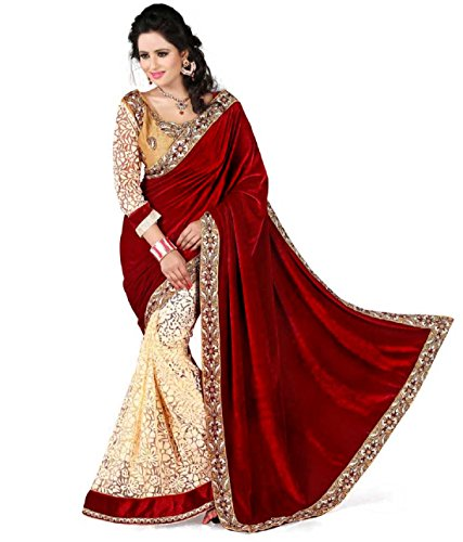 Rangrasiya Women'S Georgette Saree With Blouse Piece(Ws2210_Maroon_Free Size)