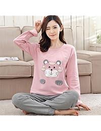 0f54c1733b moxin Pijamas de algodón de señoras de Manga Larga Conjunto Superior pjs  Largo de la Parte