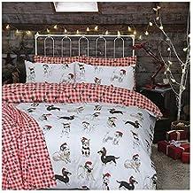 Navidad para niños, juego de funda nórdica cama manta Festive de muñeco de nieve de