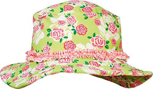 Playshoes Mädchen Kappe Sonnenhut, Bademütze Rosen UV - Schutz nach Standard 801, Gr. Large (Herstellergröße: 55cm), Mehrfarbig (original 900)